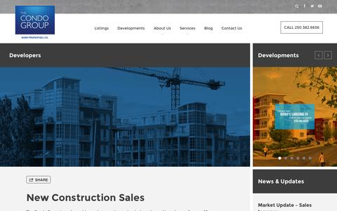 Screenshot of Developers Page thecondogroup.com - The Condo Group - captured Oct. 1, 2014