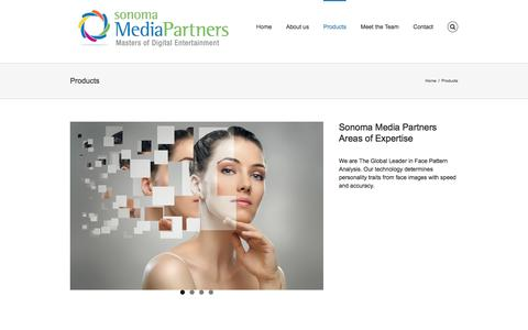 Screenshot of Products Page sonomamediapartners.com - Products – Sonoma Media Partners - captured Aug. 15, 2016