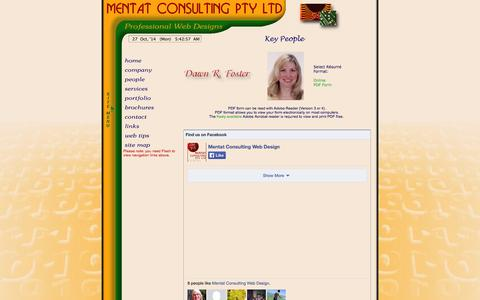 Screenshot of Team Page mentat.com.au - Mentat Consulting Pty Ltd - People Page - Professional Web Site Design and Consulting Services. - captured Oct. 27, 2014