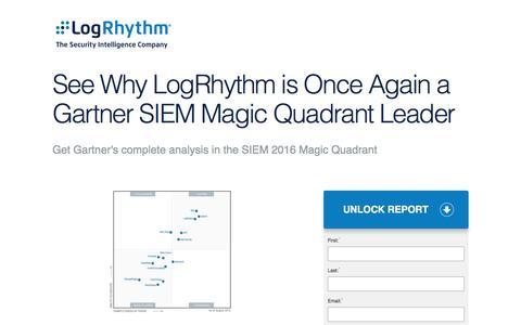 See Why LogRhythm is Once Again a Gartner SIEM Magic Quadrant Leader | LogRhythm