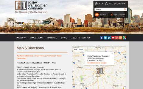 Screenshot of Maps & Directions Page foster-transformer.com - Foster Transformer | Map and Directions - captured Nov. 25, 2016