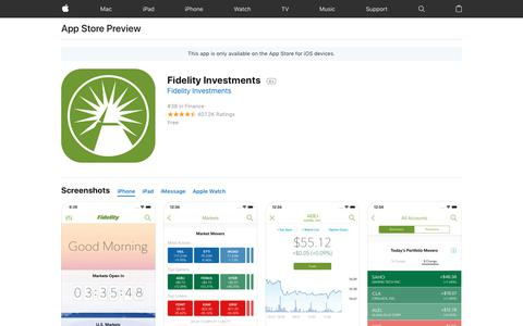Fidelity Investments on the AppStore