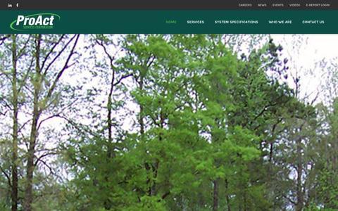 Screenshot of Home Page proact-usa.com - Home - captured Jan. 31, 2016