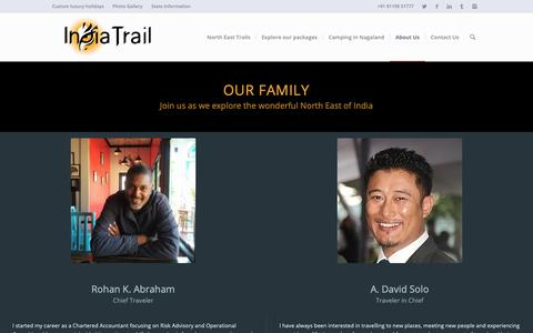 Screenshot of Team Page indiatrail.org - Our family – India Trail - captured Oct. 18, 2018