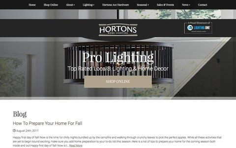 Screenshot of Blog hortonshome.com - Blog | Hortons Home Lighting - captured Sept. 3, 2017