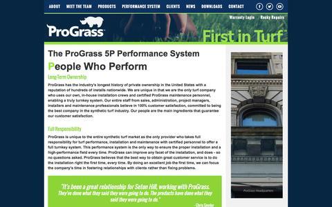 Screenshot of Team Page prograssturf.com - ProGrass: 5P Performance System Artificial Turf - People - captured Feb. 1, 2016