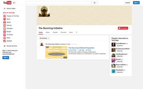 Screenshot of YouTube Page youtube.com - The Sourcing Initiative  - YouTube - captured Oct. 26, 2014