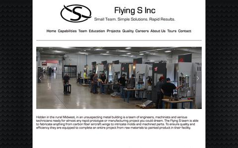 Screenshot of Home Page flying-s.com - Flying S Inc - captured June 6, 2017