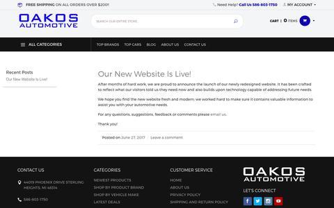 Screenshot of Blog oakos.com - OAKOS Blog – The happenings of OAKOS - captured July 2, 2017