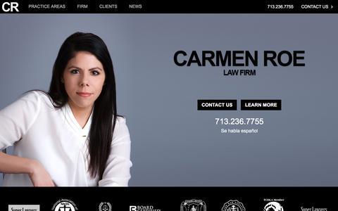 Screenshot of Home Page carmenroe.com - Home - Carmen Roe Law Firm - captured Oct. 29, 2016