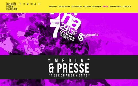 Screenshot of Press Page musiques-ici-ailleurs.com - media – 27e festival des Musiques d'Ici et d'Ailleurs - captured Oct. 22, 2018