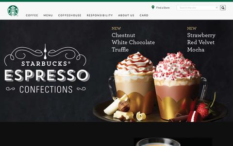 Screenshot of Home Page starbucks.com.hk - Starbucks Coffee Company - captured Jan. 14, 2016