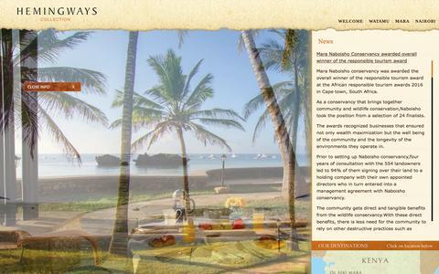 Screenshot of Press Page hemingways-collection.com - News - captured July 13, 2016