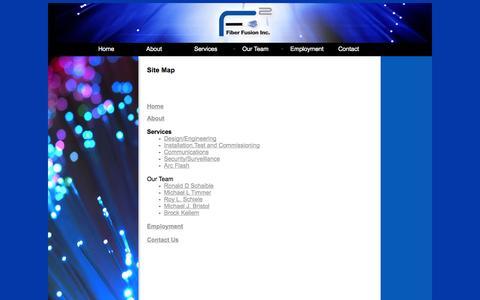 Screenshot of Site Map Page fiberfusioninc.com - Fiber Fusion Sitemap - captured Sept. 30, 2014