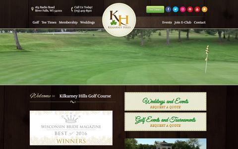 Screenshot of Home Page kilkarneyhills.com - Kilkarney Hills Golf Course - River Falls, WI - captured Oct. 17, 2017