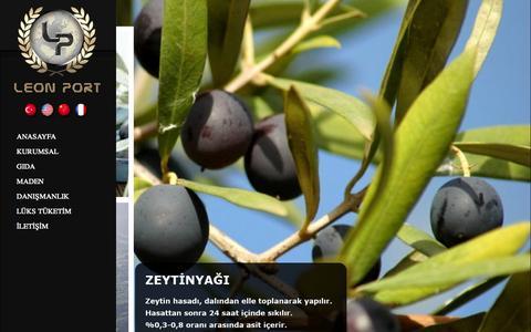 Screenshot of Home Page leonport.com.tr - Anasayfa - LEON PORT - captured Oct. 2, 2014