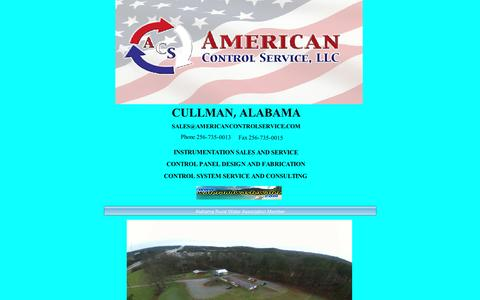 Screenshot of Home Page americancontrolservice.com - Home - captured Nov. 20, 2016