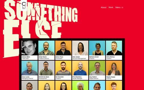 Screenshot of Team Page oneshoe.co.uk - People | Clinic - Creative Agency London - captured Jan. 10, 2016