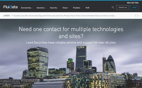 Screenshot of Home Page fluidata.co.uk - Fluidata - The Data Delivery Network - captured Aug. 3, 2015