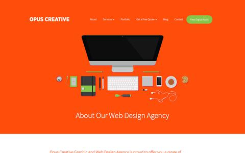 Screenshot of About Page opuscreative.ie - About Our Web Design Agency - Opus Creative - captured Nov. 2, 2017