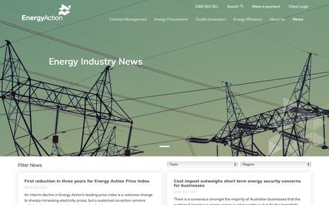 Screenshot of Press Page energyaction.com.au - News - captured Aug. 8, 2017