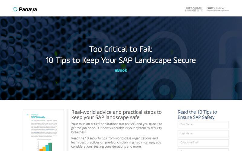 10 Tips to Keep Your SAP Landscape Secure – Panaya
