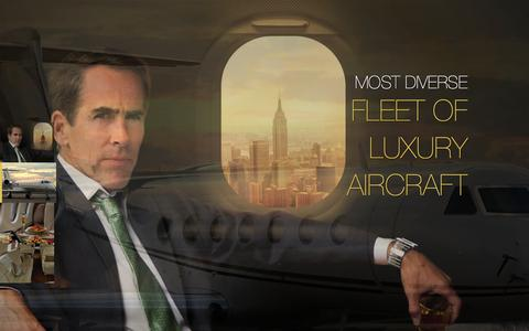 Screenshot of Home Page luxurybusinessjets.com - Luxury Business Jets - captured Oct. 3, 2014