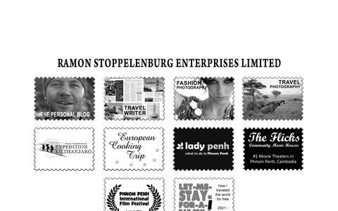Screenshot of Home Page ramonstoppelenburg.com - Ramon Stoppelenburg Enterprises Ltd. - captured Oct. 7, 2014