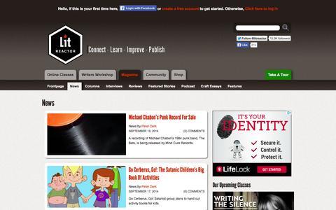 Screenshot of Press Page litreactor.com - News   LitReactor - captured Sept. 23, 2014