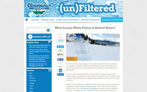 What Causes White Flakes in Bottled Water? - Absopure (un)Filtered