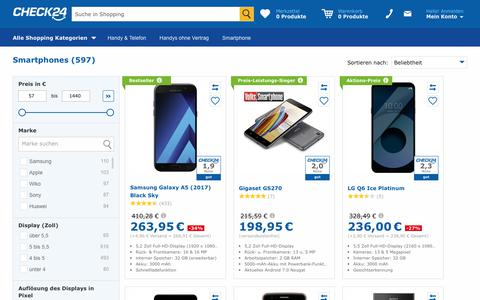 Smartphone günstig ohne Vertrag im CHECK24-Preisvergleich
