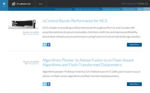 Screenshot of Blog fusionio.com - Blog :: Fusion-io - captured July 20, 2014
