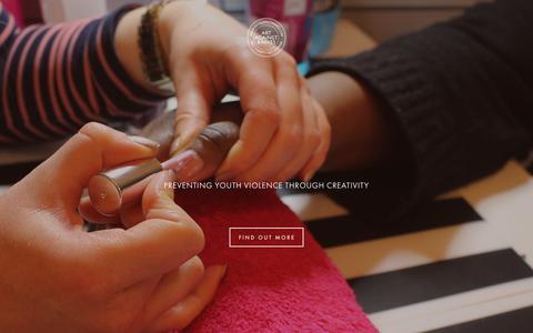 Screenshot of Home Page artagainstknives.com - ART AGAINST KNIVES - captured Dec. 9, 2018