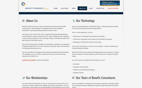 Screenshot of About Page benefitcommerce.com - About Us | Benefit Commerce Group - captured Oct. 5, 2014
