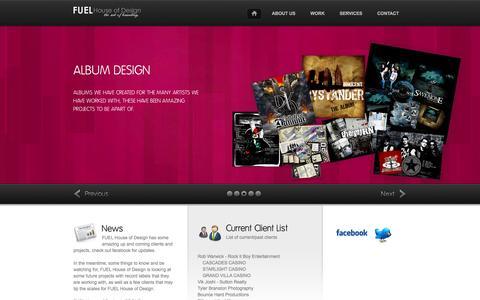 Screenshot of Home Page fuelhouseofdesign.com - FUEL House of Design  - ...the art of branding � - captured Jan. 8, 2016
