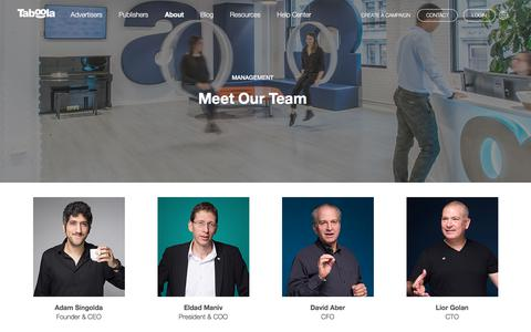 Screenshot of Team Page taboola.com - Meet the Management Team | Taboola.com - captured Aug. 7, 2018