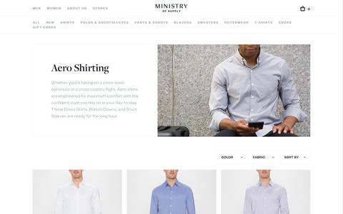 Men's Shirting | Aero | Ministry of Supply