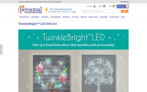 TwinkleBright™ LED Canvas Art | Lighted Wall Art | Personal Creations