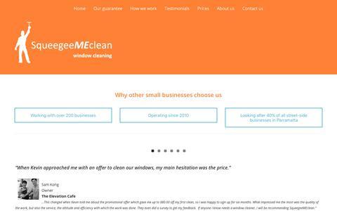 Screenshot of Testimonials Page smclean.me - Testimonials – SqueegeeMEclean - captured Oct. 24, 2017