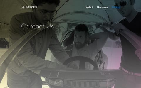 Screenshot of Contact Page litmotors.com - Contact - captured March 6, 2019