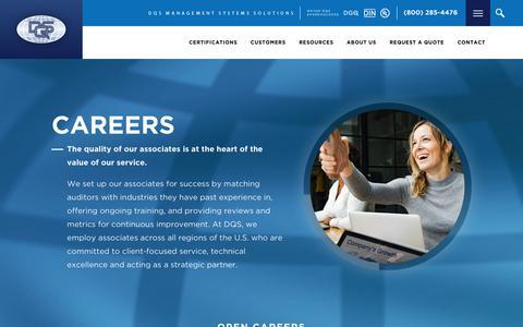 Screenshot of Jobs Page dqsus.com - Careers - DQS Inc. - captured Oct. 24, 2018