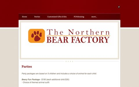 Screenshot of Pricing Page northernbearfactory.com - Pricing - captured Oct. 9, 2014