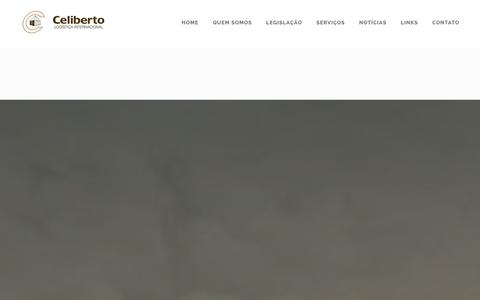Screenshot of Home Page celiberto.com.br - Celiberto Logística Internacional - captured Jan. 26, 2016
