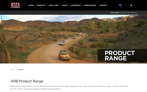 Screenshot of Products Page arb.com.au - ARB 4×4 Accessories | Four Wheel Drive Products - ARB 4x4 Accessories - captured Sept. 30, 2015