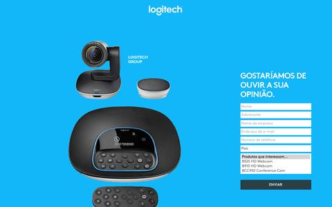 Screenshot of Landing Page logitech.com - Logitech | Contact Us - captured April 26, 2017