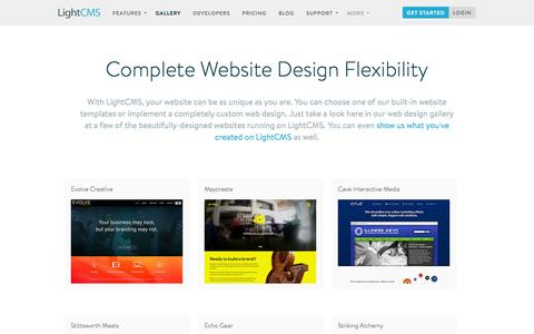 Website Templates, Web Design Portfolio, Web Design Gallery | LightCMS