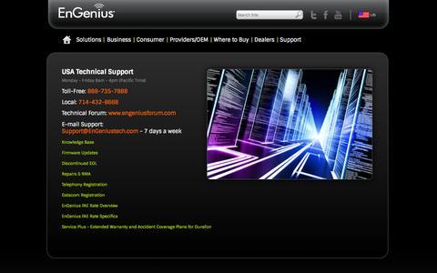 Screenshot of Support Page engeniustech.com - Support - captured Sept. 25, 2014