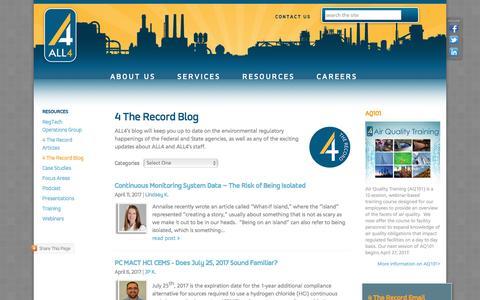Screenshot of Blog all4inc.com - ALL4 Blog - captured April 19, 2017