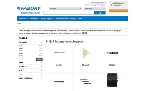 Bij Fabory bestelt u Snij- & boorgereedschappen van hoge kwaliteit | Fabory, Nederland