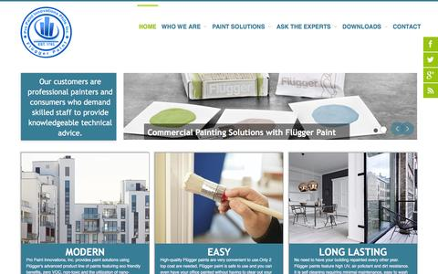 Screenshot of Home Page propaint.ph - Pro Paint Philippines - Flügger Distributor Paint Solutions Services - Pro Paint Philippines - captured Feb. 1, 2016